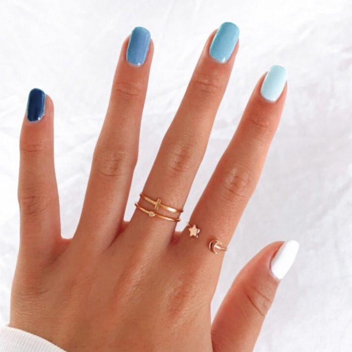 Feeling Blue Nail Art