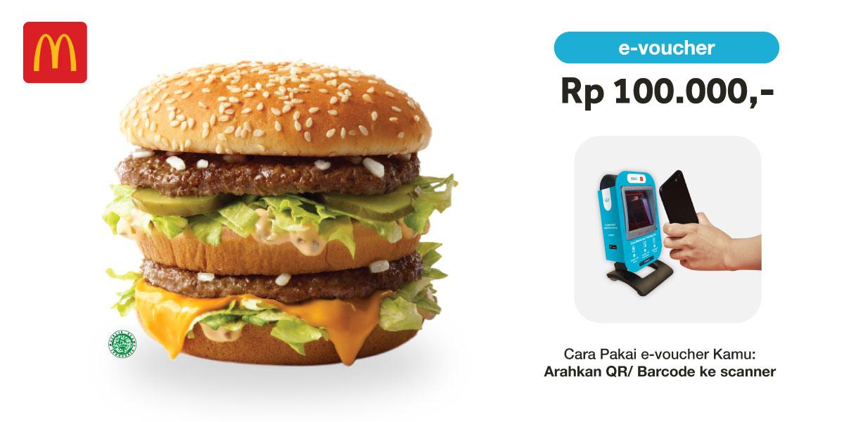 Voucher McDonald's Rp 100.000