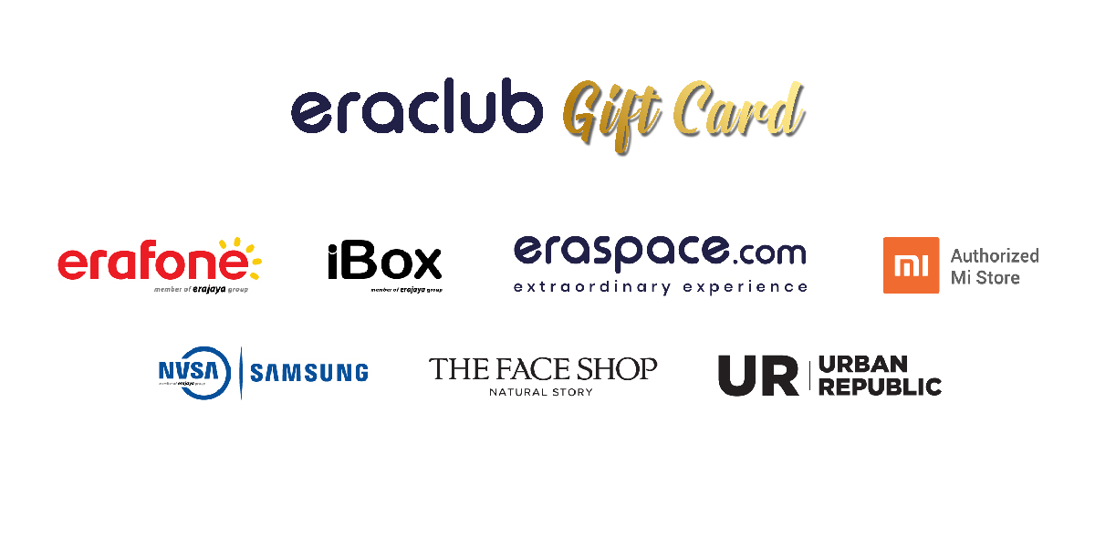 Voucher Digital Eraclub Giftcard (iBox, Samsung, Urban Republic) Rp. 500.000
