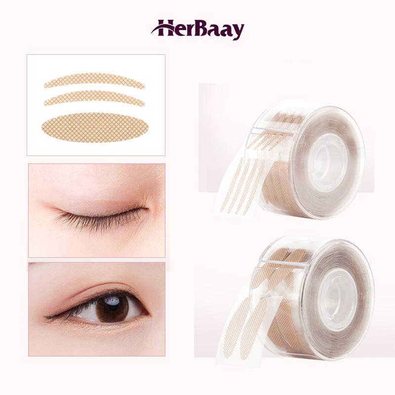 HerBaay Natural Invisible Eyelid Tapes Stickers Eyelid Lift Strip Brea - A thumbnail