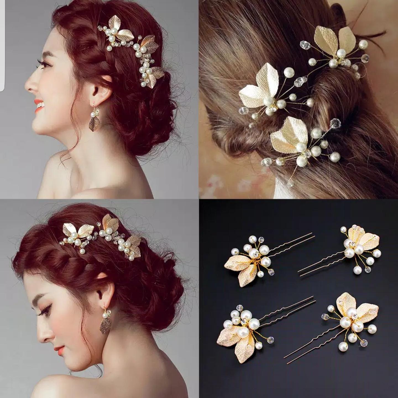 Hiasan Rambut Aksesoris Sanggul Hair Pin Pesta Pengantin Wedding H01 thumbnail