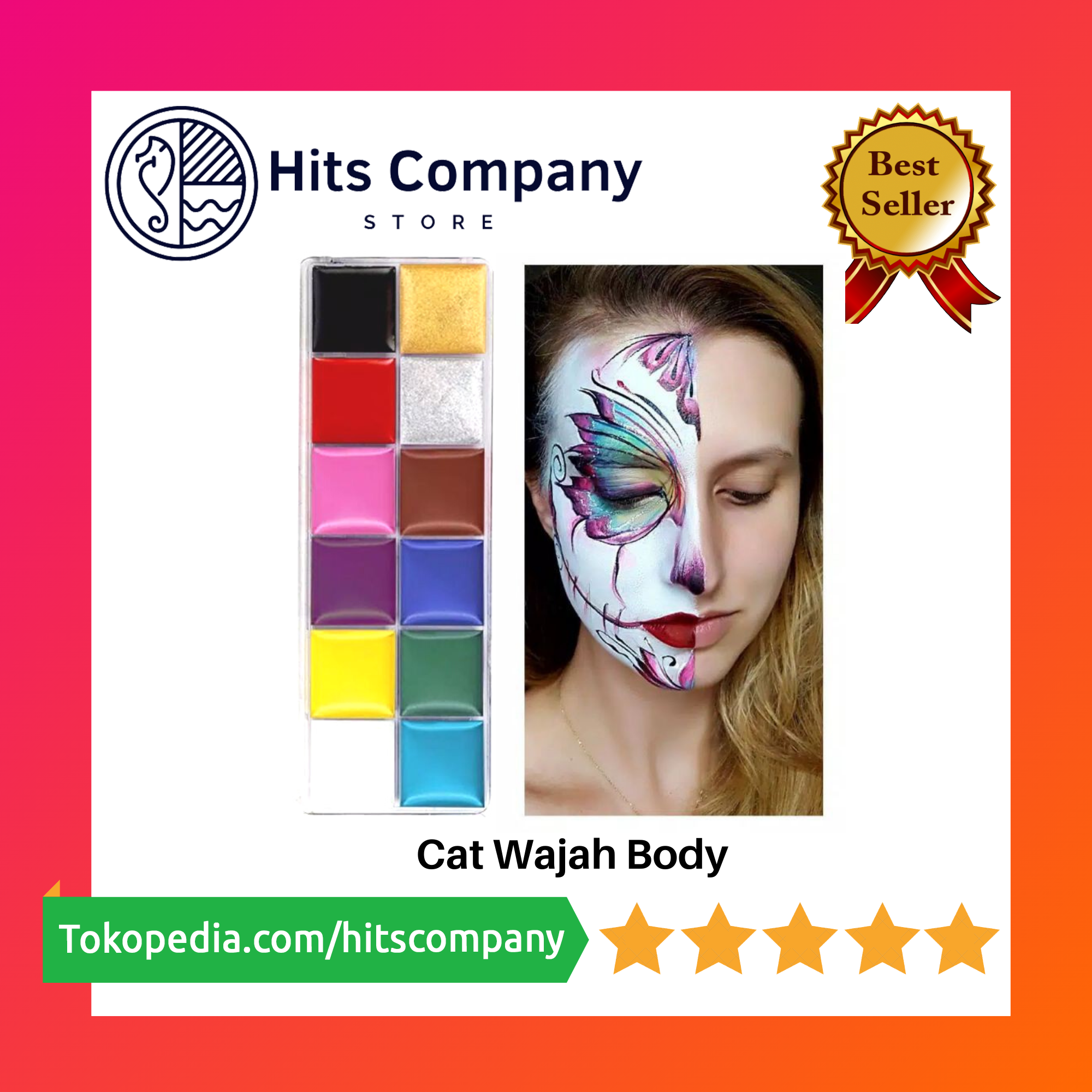 Cat Lukis Wajah Body and Face Painting - 8 Warna thumbnail