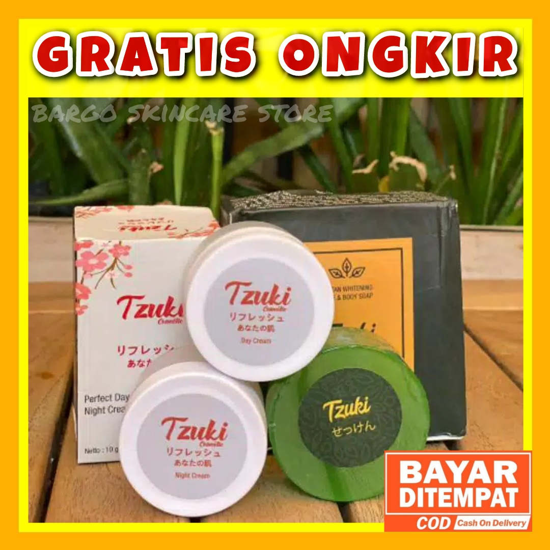 Tzuki Paket Lengkap Cream Pemutih Wajah Pemutih Badan Pemutih Wajah thumbnail