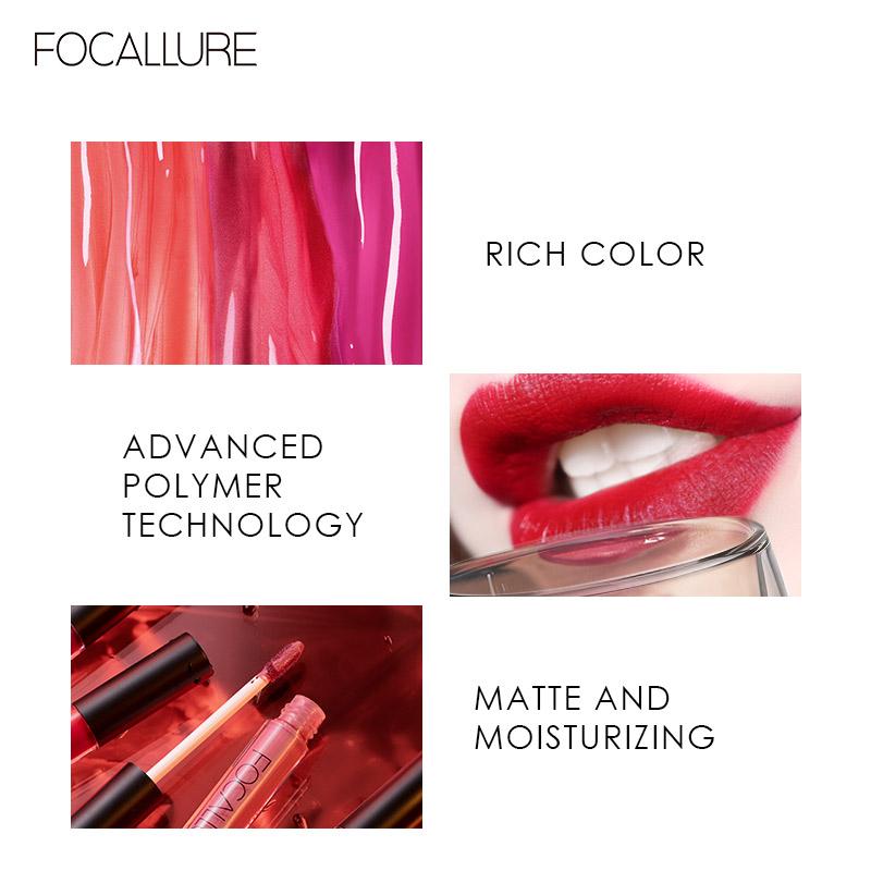 Focallure Long Lasting Matte Lips Color FA24 - FA24-19 5