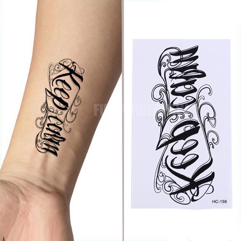 Sticker Tattoo Temporary - Tato Temporer - Tato 3D Tato Tulisan thumbnail