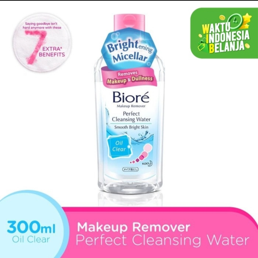 Biore Make Up Remover Perfect Cleansing Water Oil Clear 300ml thumbnail