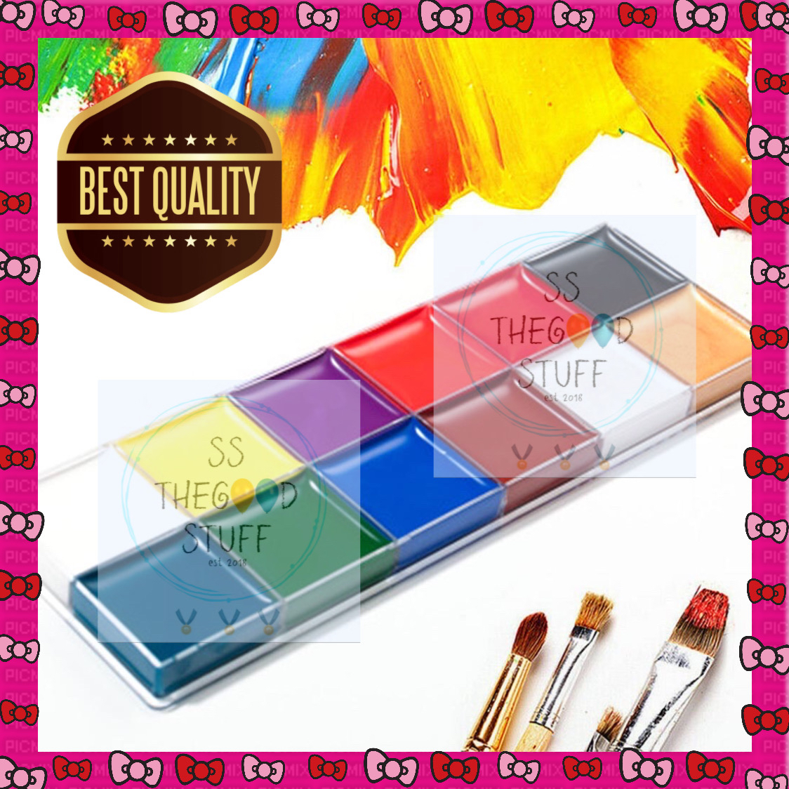 Face and Body Painting Set 12 Colors Cat Minyak Face and Body Art thumbnail