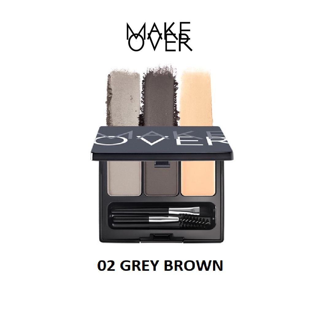 Make Over Eye Brow Definition Kit - 02 GREY BROWN thumbnail