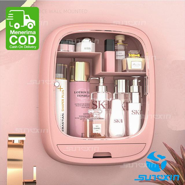 Rak Kosmetik Gantung-9122 Rak Kosmetik Rak Make Up Rak Organizer - Merah Muda thumbnail