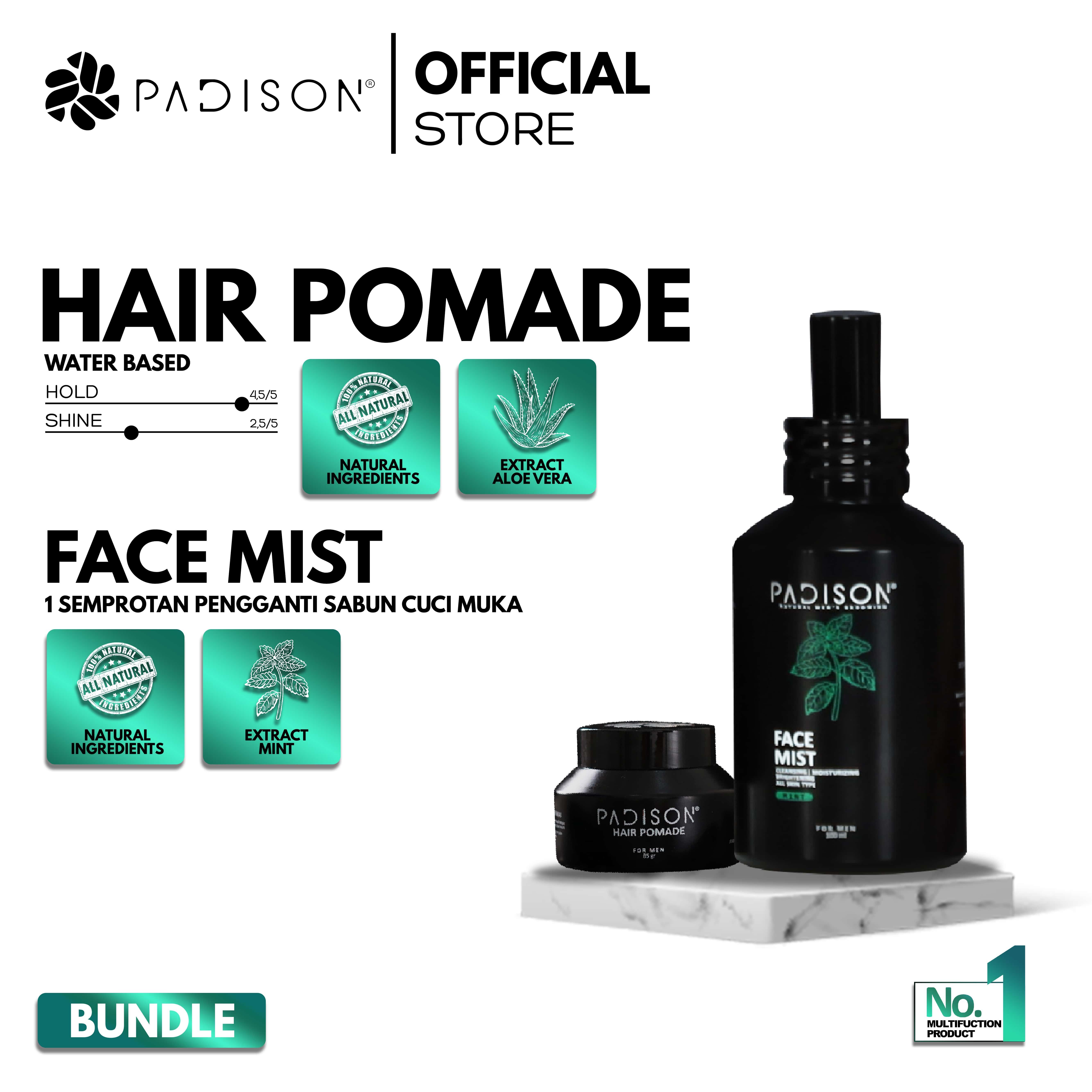 Face Mist Pembersih muka + Pomade Waterbased Minyak rambut pria thumbnail