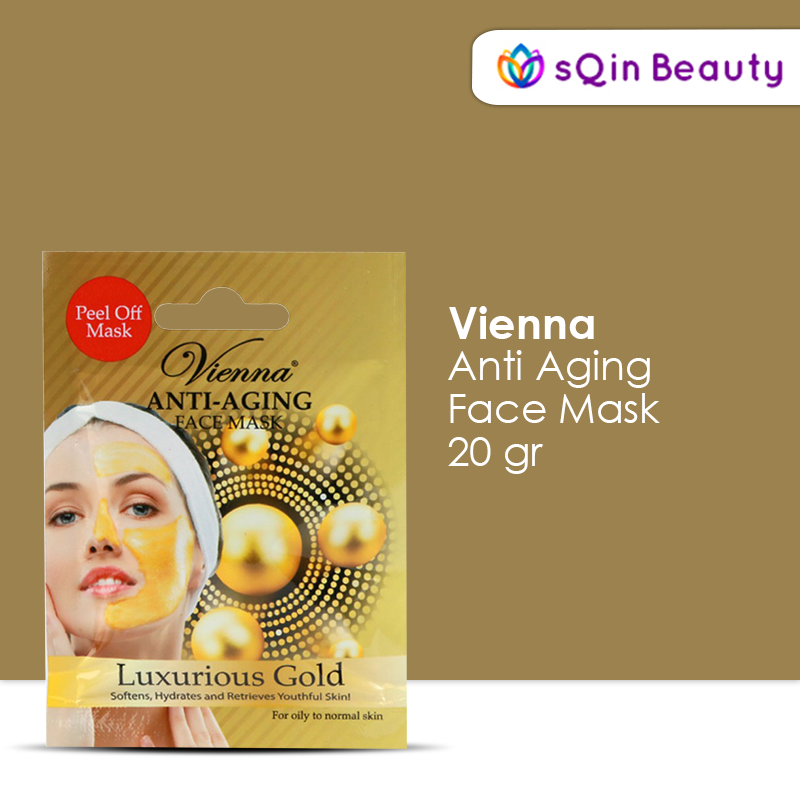 Vienna Anti Aging Face Mask Luxurious Gold Peel Off Mask Masker thumbnail