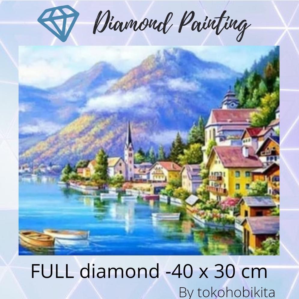 DIY DIAMOND PAINTING GUNUNG thumbnail