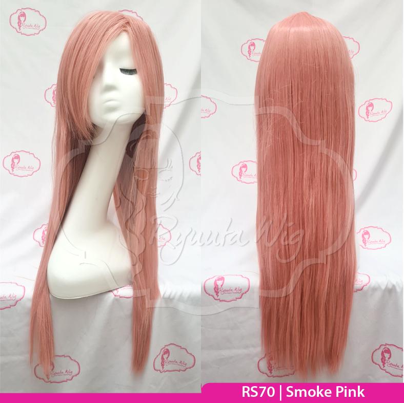 RS70 Pink Wig long straight lurus panjang cosplay color - RS70 Smoke Pink thumbnail