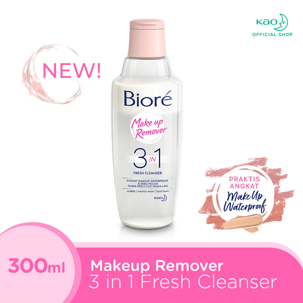 Biore Make Up Remover 3 in 1 Fresh Cleanser 300 ML thumbnail