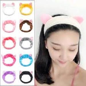Bandana Facial Ear Cat Lucu - Cokelat thumbnail