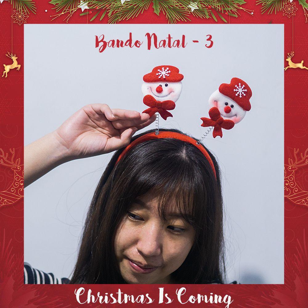 Bando Natal Christmas Bando Rusa Snowman Santa Best Price - Snowman 1 thumbnail