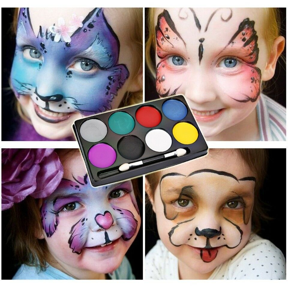 Cat face body painting face painting cat lukis wajah body painting 5