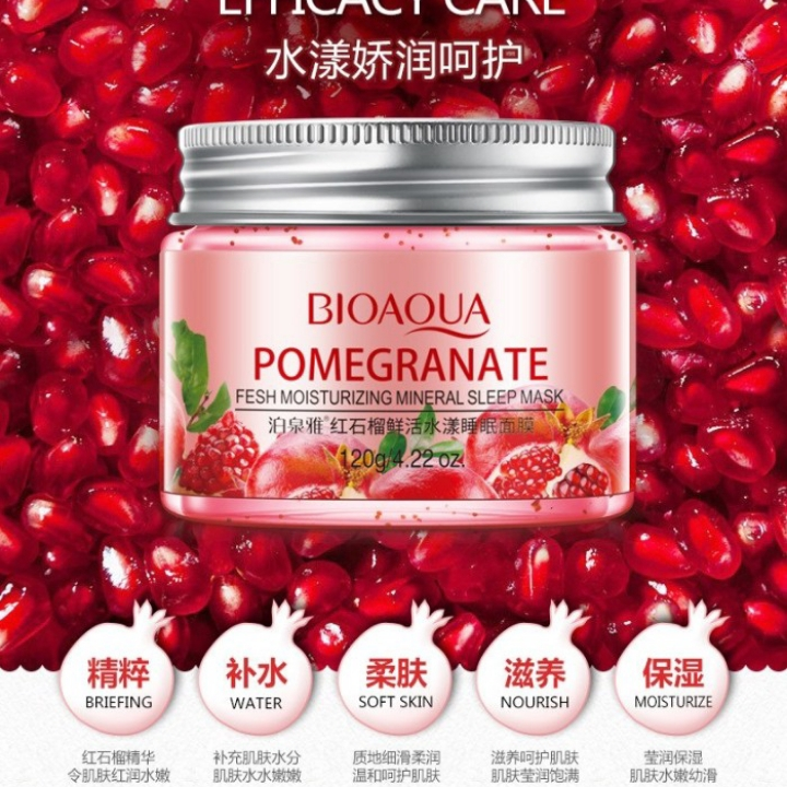 Bioaqua Moisturizing Sleeping Mask Nonwash 120gram Varian Pomegranate thumbnail