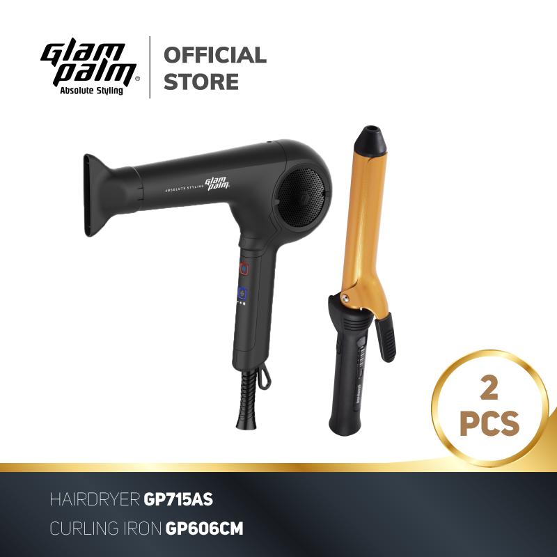 Bundling Glampalm Curling Iron GP606CM - Glampalm Hair Dryer GP715AS thumbnail