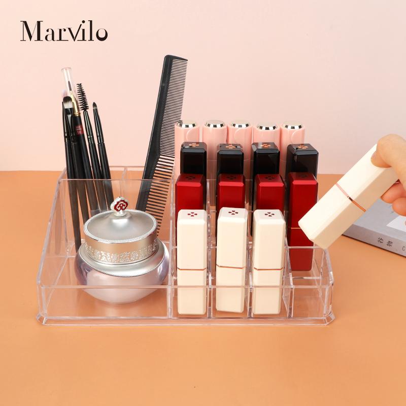 Marvilo Kotak Lipstik Organizer Lipstick Rack Transparan Rak Lipstik 3