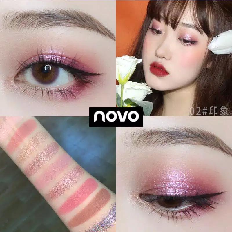 Novo Keyboard 9 warna shimmer glitter eyeshadow palette - shade 02 thumbnail