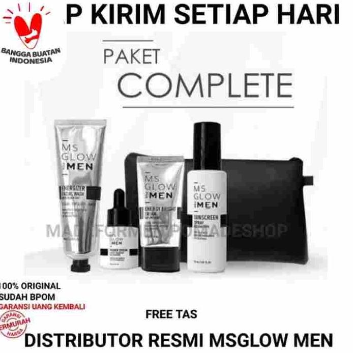 pemutih wajah pembersih wajah untuk pria (paket ms glow) thumbnail