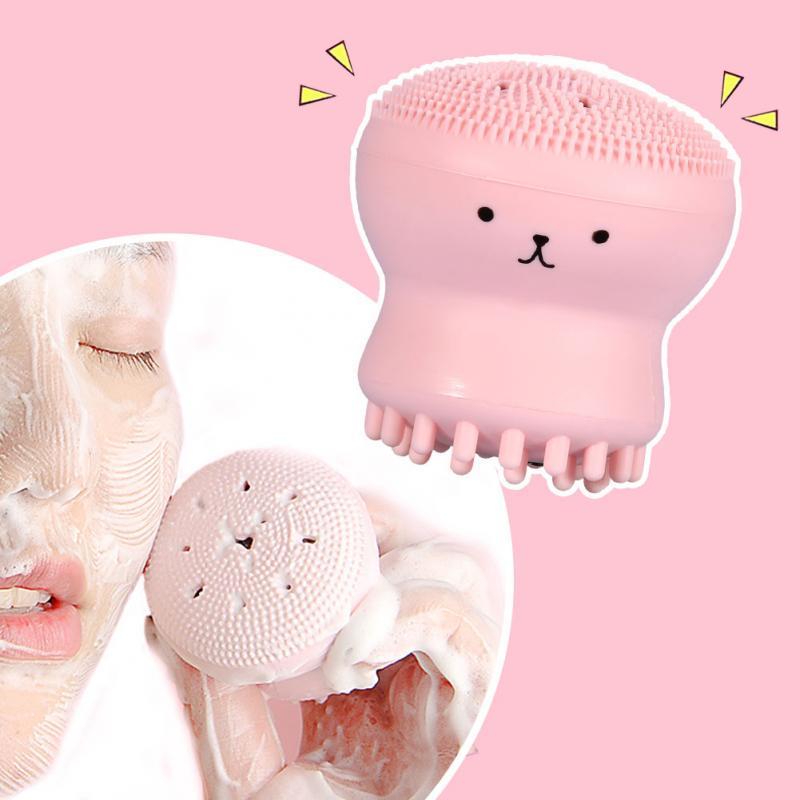 Facial Cleansing Pad Scrub Face Exfoliating Washing Brush Cuci Muka thumbnail