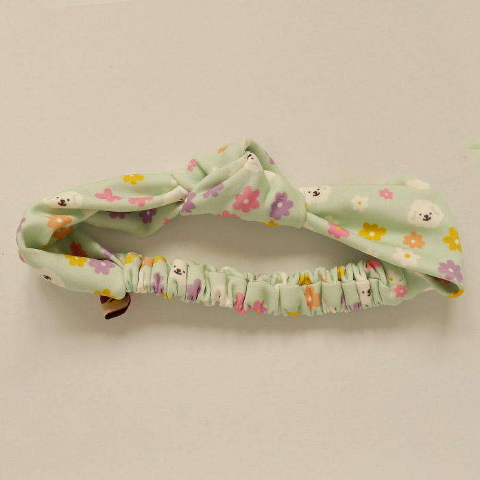 Headband - Poodle and Flowers (Mint) thumbnail
