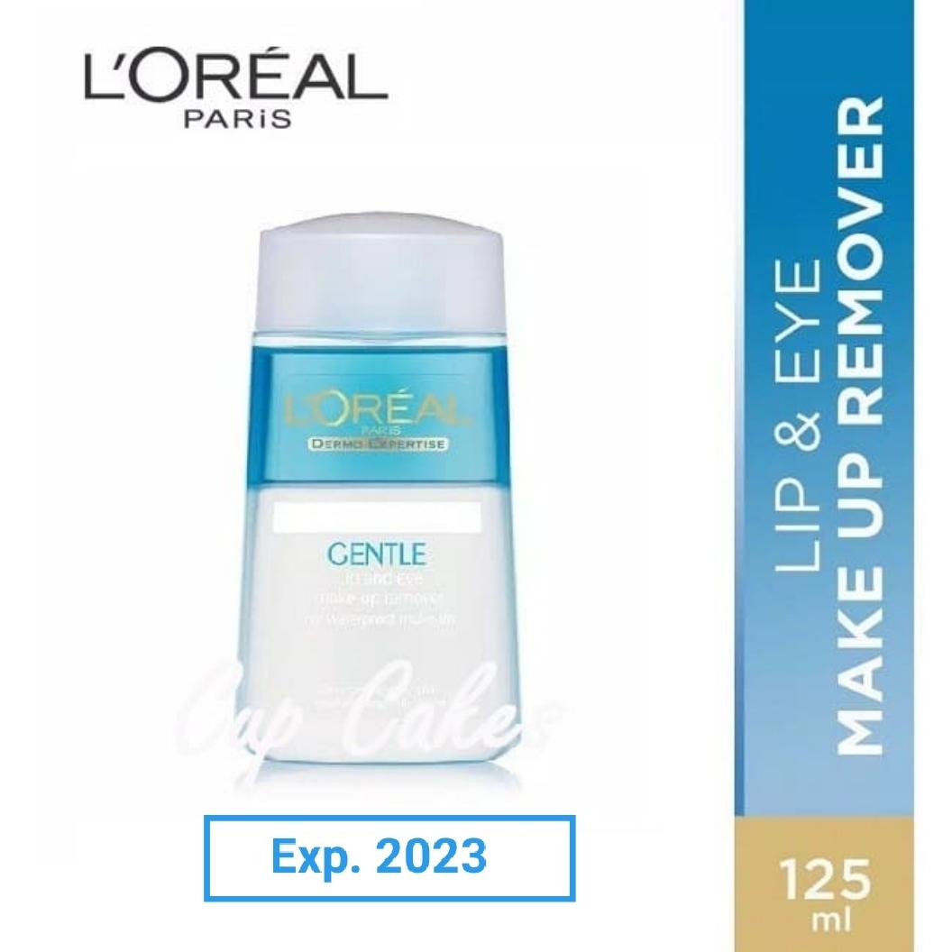 loreal gentle lip and eye make up remover 125 ml ori pembersih promo thumbnail
