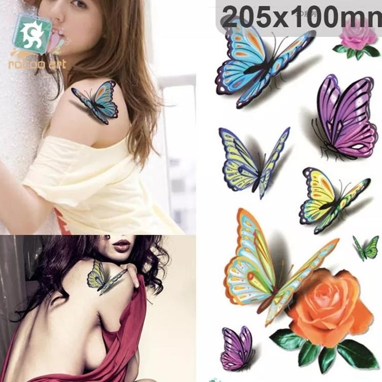Tattoo Tatto temporer 10 X 20 cm motif butterfly thumbnail