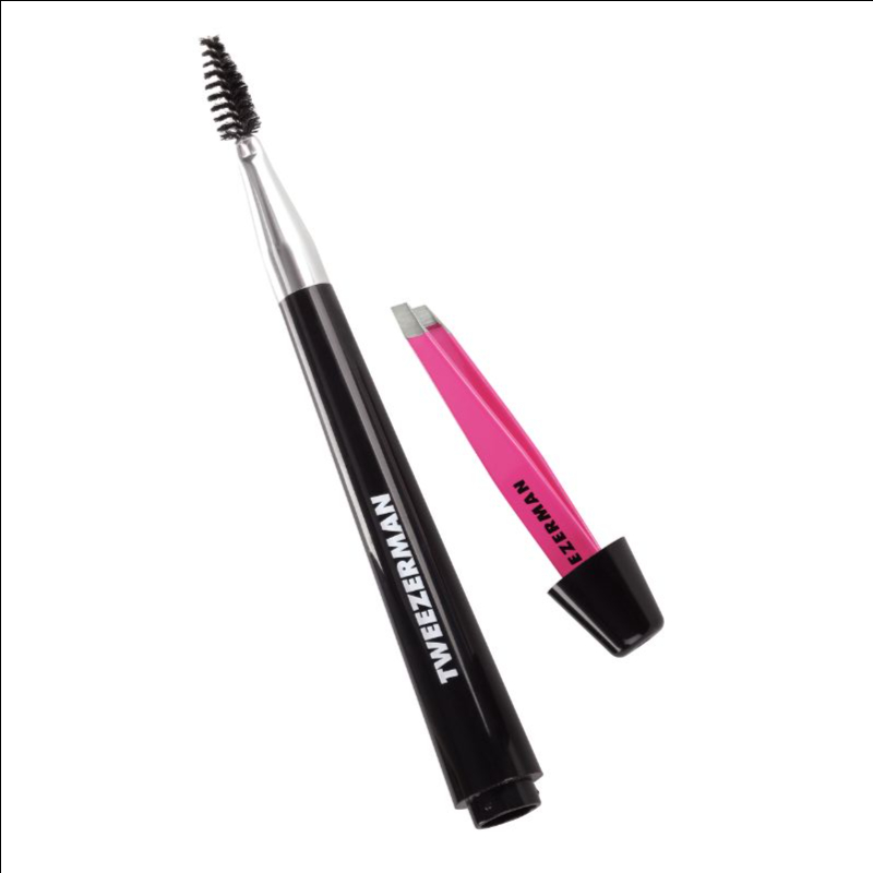 Tweezerman 4091-R hideaway brow brush + mini slant tweezer thumbnail