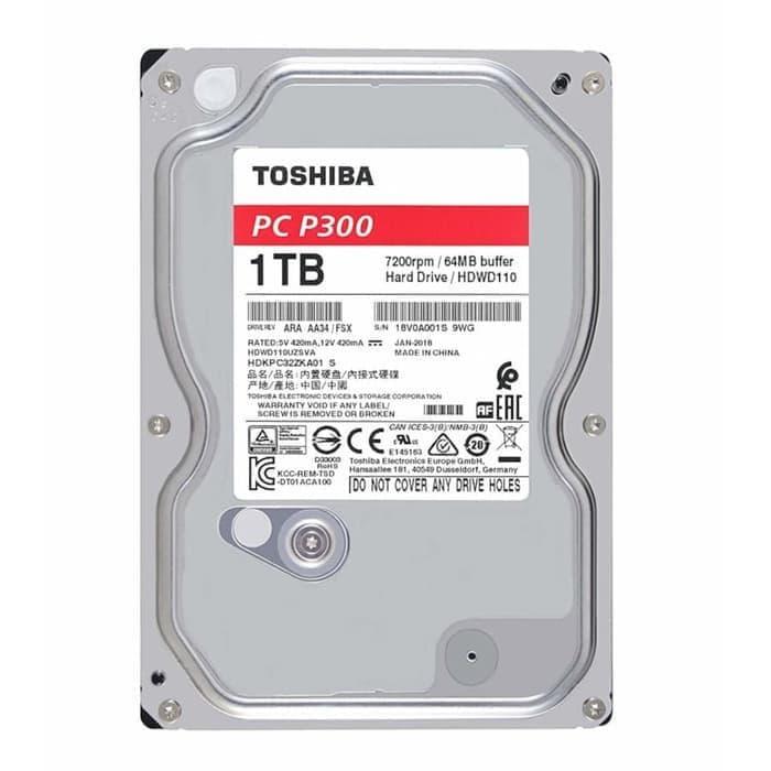 Toshiba 2TB SATA3 128MB 5400RPM - P300 Series