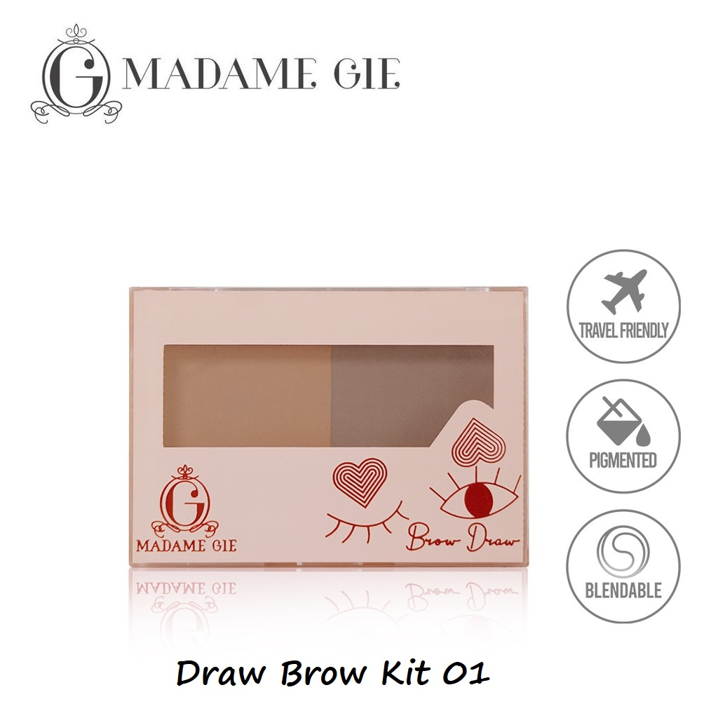 Madame Gie Brow Draw Eyebrow Kit - 01 EYEBROW KIT thumbnail