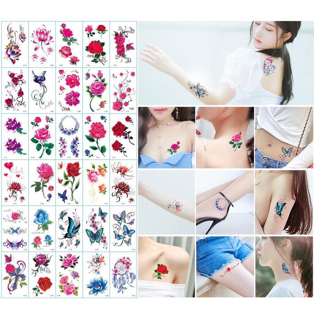 30 Pcs Tatto Temporary - Tato Temporer - Tato Sementara - [Tato-Bunga] thumbnail