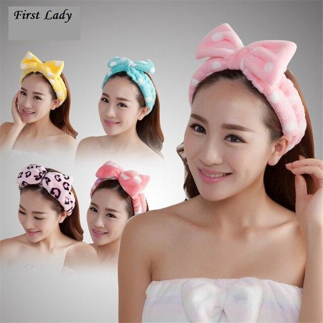 handuk bando wash headband ikat rambut cuci muka hair band korea style thumbnail