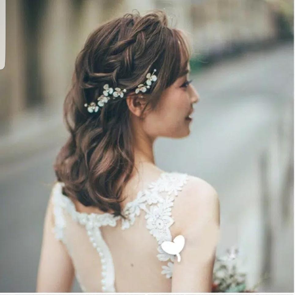 3 Pcs set Hair pin Hiasan Sanggul Aksesoris Rambut Pesta Pengantin H55 thumbnail