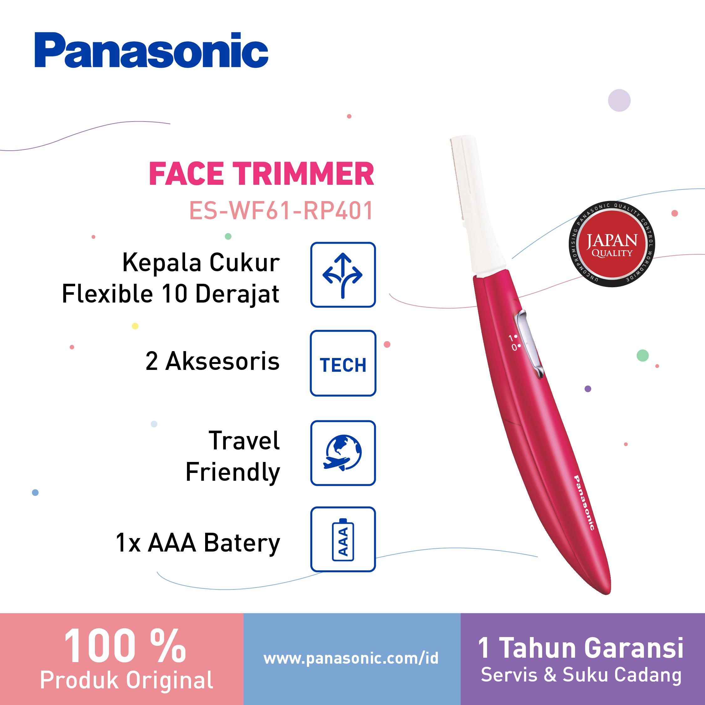 Panasonic Facial Shaver Trimmer WF61 Cukur Bulu Halus dan Alis R thumbnail