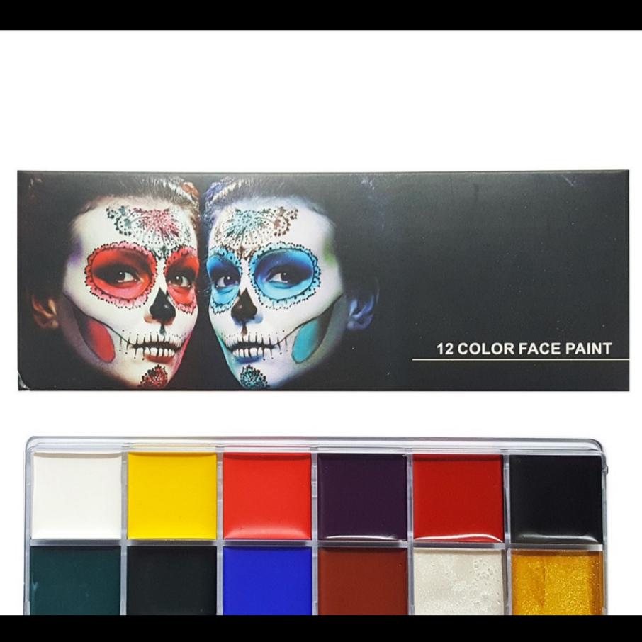 12 Color Face Paint - Face & Body Painting Set 12 Color - Body Art thumbnail