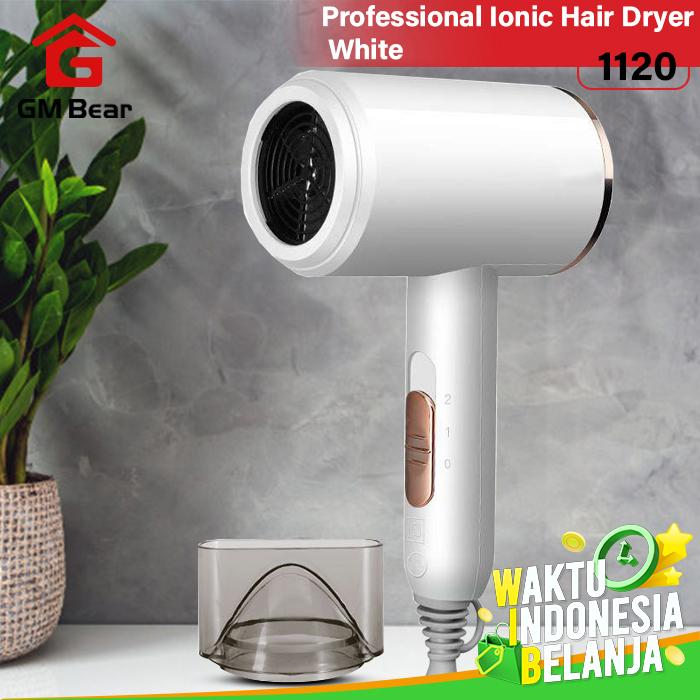 GM Bear Alat Pengering Rambut Portable - Professional Ionic Hair Dryer - Putih thumbnail
