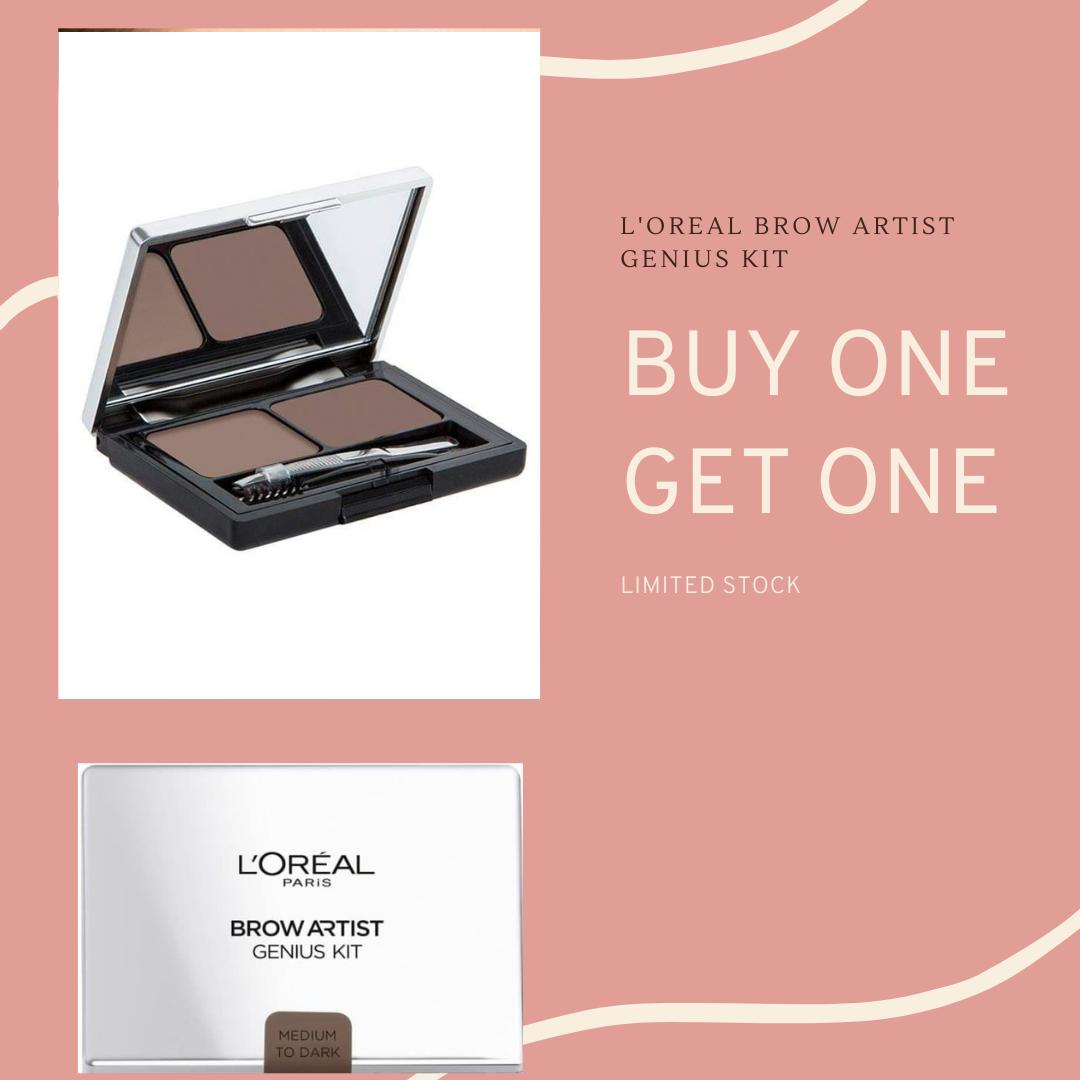 Loreal Brow Artist Genius Kit - Medium to Dark Eyebrow Powder Original thumbnail