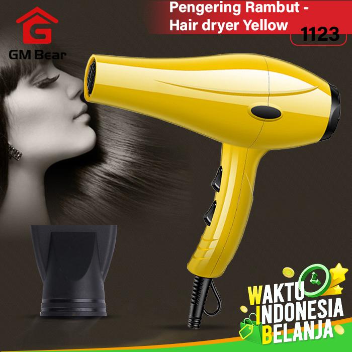 GM Bear Pengering Rambut Profesional Serbaguna - Hair Dryer - Kuning thumbnail