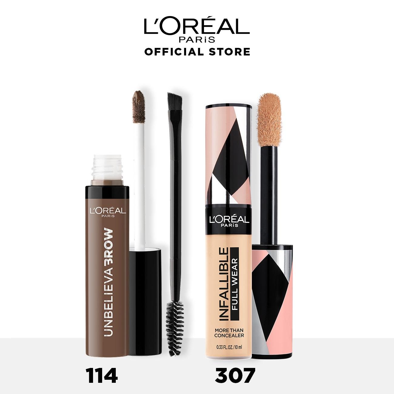 L Oreal Paris Unbelievabrow Brow Gel + More Than Concealer Makeup - 114 Light + 307 thumbnail