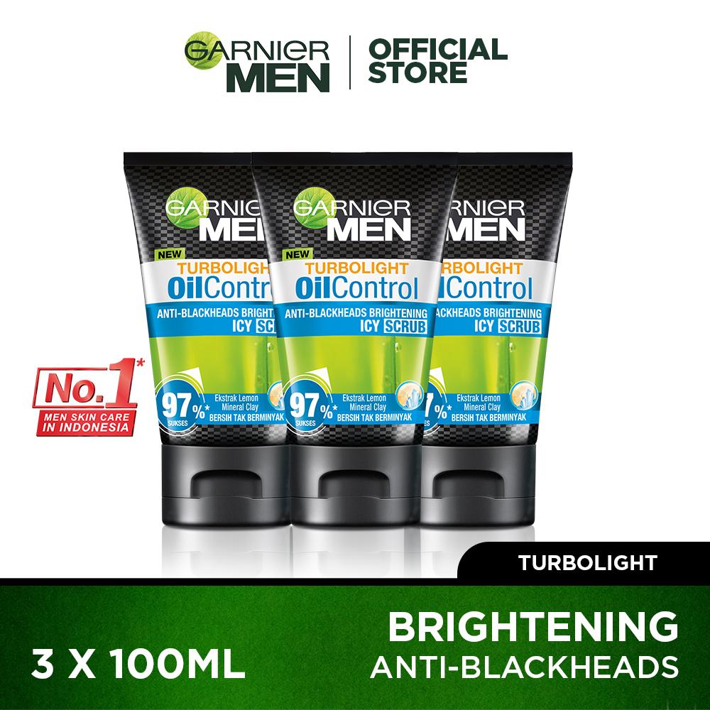 Garnier Men Turbolight Oil Control Scrub 100ml Pack of 3 thumbnail