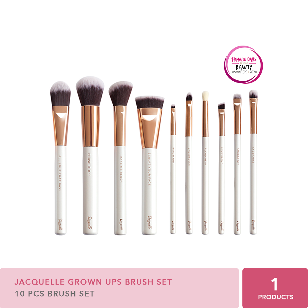 Jacquelle Beauty Brush Collection - Grown Ups set of 10 thumbnail