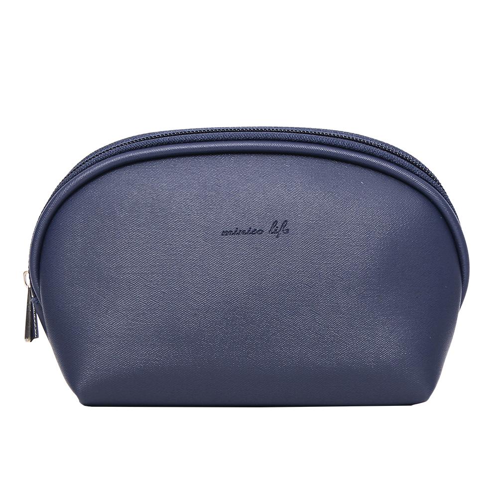MINISO Tas Penyimpanan Kosmetik Tempat Makup Cosmetic Bag Simple - Biru Laut thumbnail