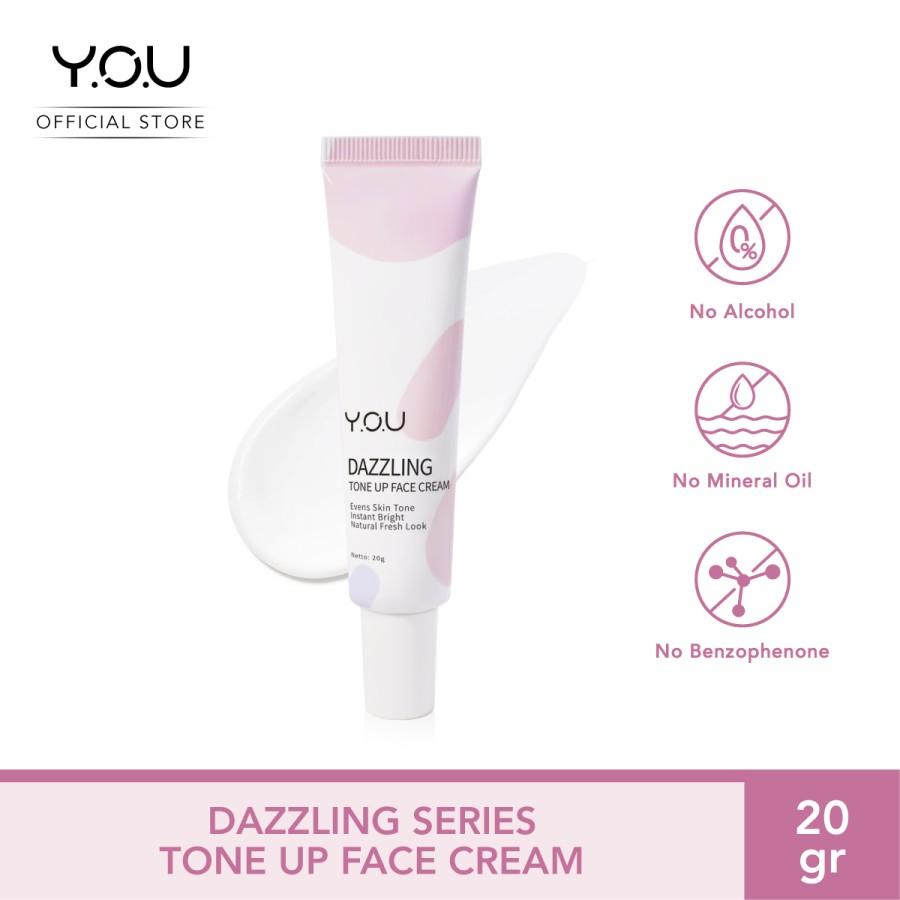 Y.O.U Kosmetik YOU Dazzling Tone Up Face Cream (Efek Cerah Seketika) thumbnail