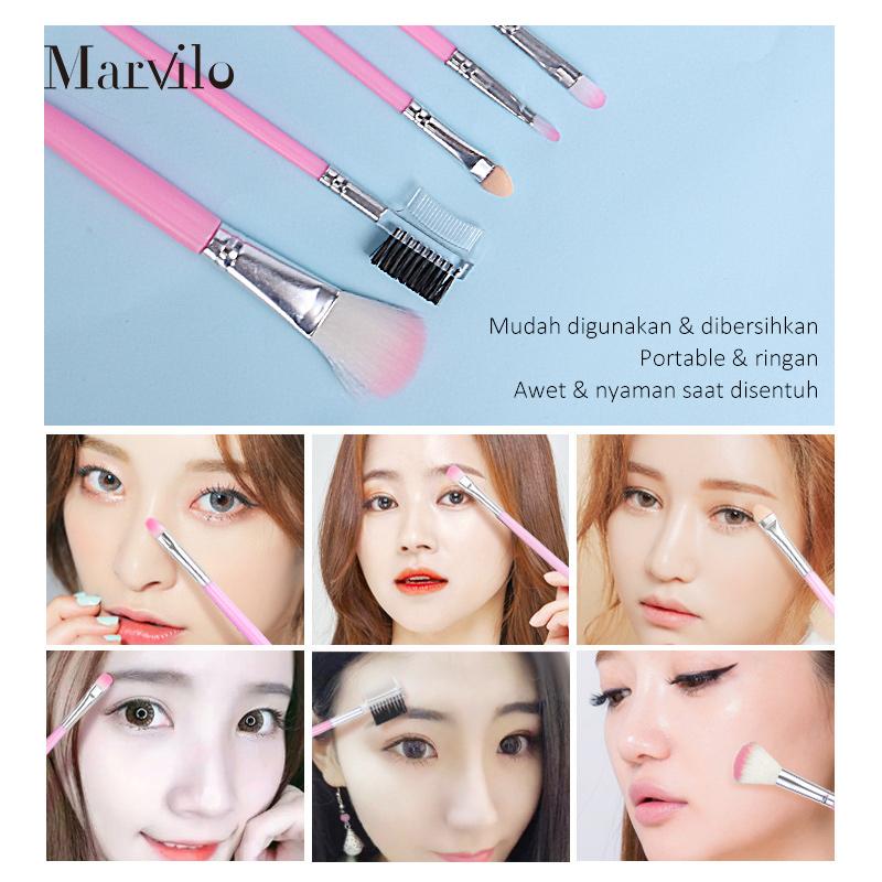 Marvilo Make Up Brush Set 5PcS 5