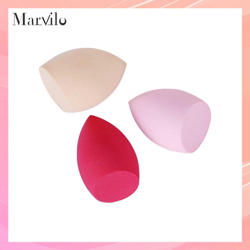 Marvilo Sponge Beauty Blender Bentuk Miring - Merah 1