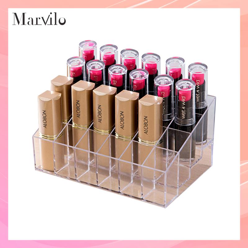 Marvilo Make Up Organizer Akrilik 24 Sekat Tempat Lipstik thumbnail