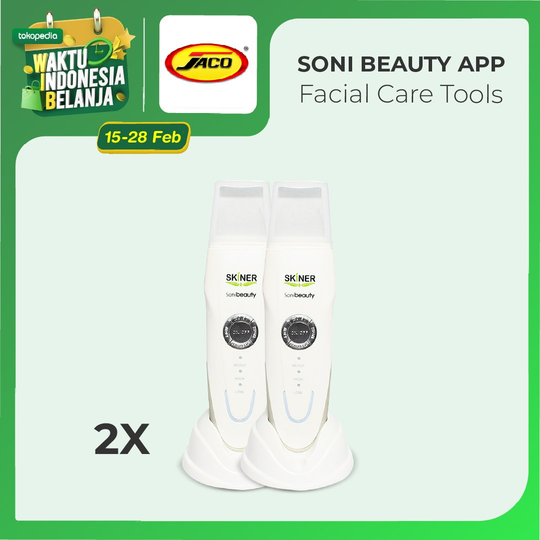Skiner Soni Beauty Jaco Alat Pembersih Komedo dan Kulit Mati Isi 2 Uni thumbnail